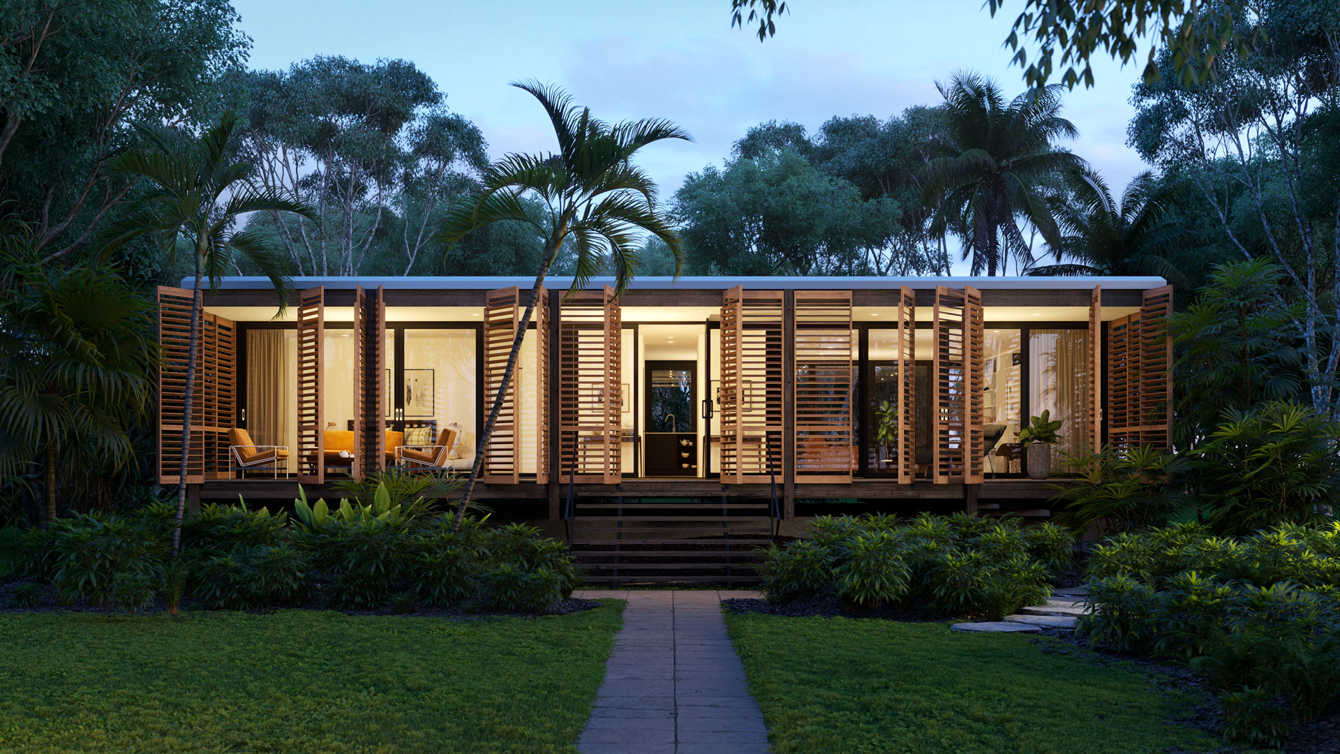 Brillhart house in miami visualization